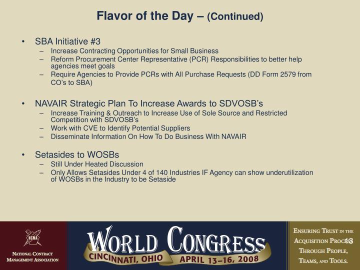 Flavor of the Day –