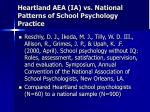 heartland aea ia vs national patterns of school psychology practice