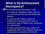 what is iq achievement discrepancy