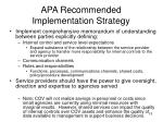 apa recommended implementation strategy1