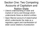 section one two competing accounts of capitalism and nation state