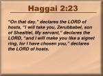 haggai 2 23