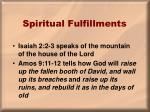 spiritual fulfillments