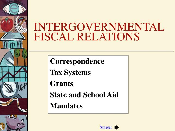 Correspondence tax systems grants state and school aid mandates