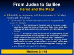 from judea to galilee herod and the magi1