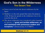 god s son in the wilderness the desert test