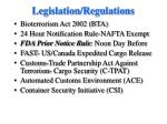 legislation regulations