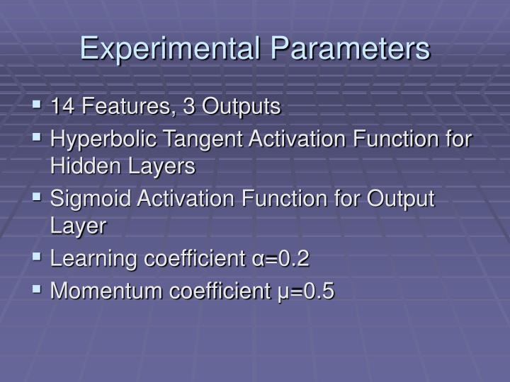 Experimental Parameters