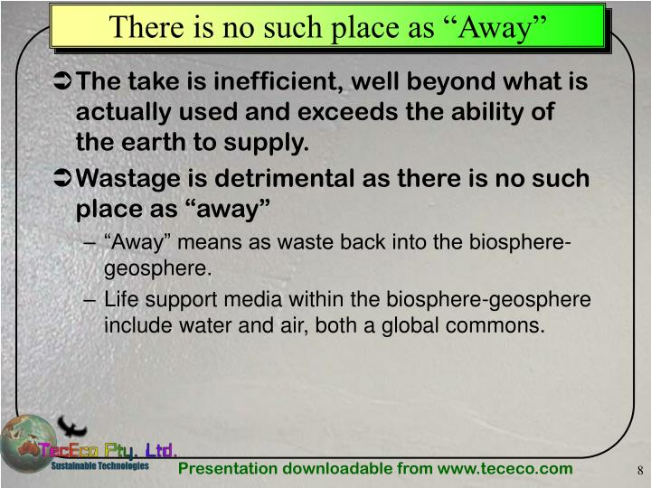 "There is no such place as ""Away"""