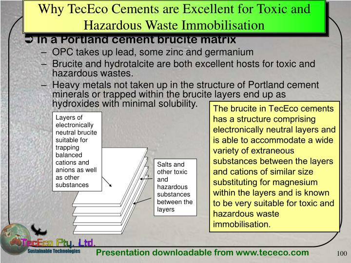 Why TecEco Cements are Excellent for Toxic and Hazardous Waste Immobilisation