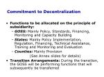 commitment to decentralization