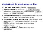 context and strategic opportunities
