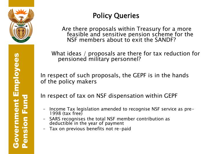 Policy Queries