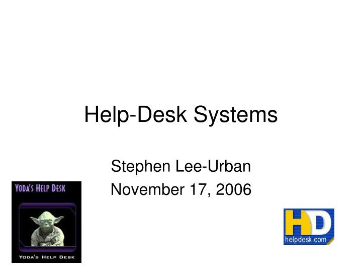 help desk systems