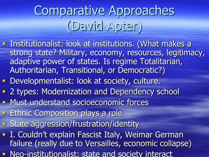 Comparative Approaches