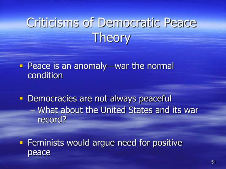 Criticisms of Democratic Peace Theory