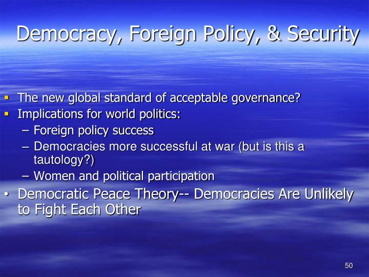 Democracy, Foreign Policy, & Security