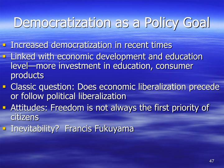 Democratization as a Policy Goal