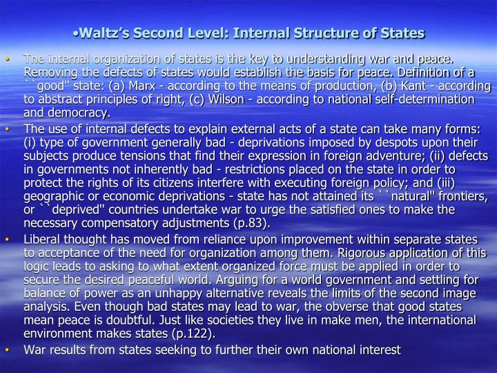 Waltz's Second Level: Internal Structure of States