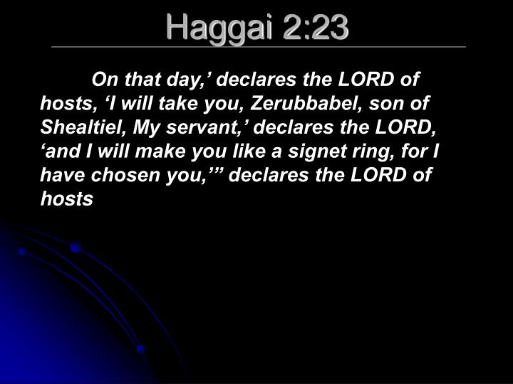 Haggai 2:23