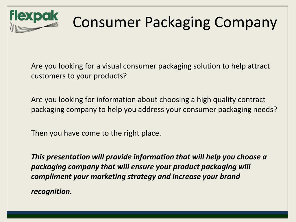 Consumer Packaging Company