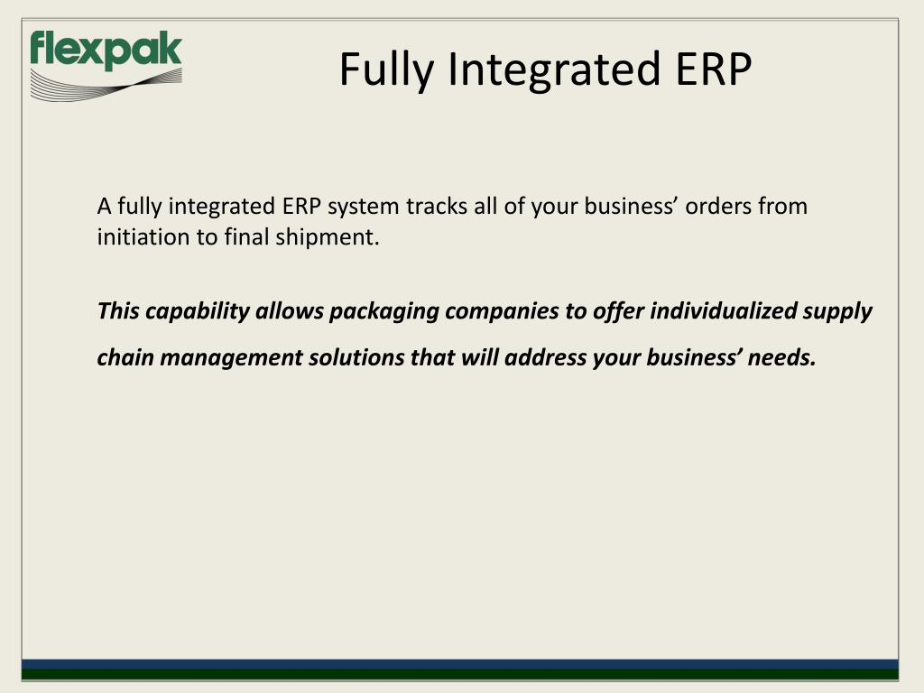 Fully Integrated ERP