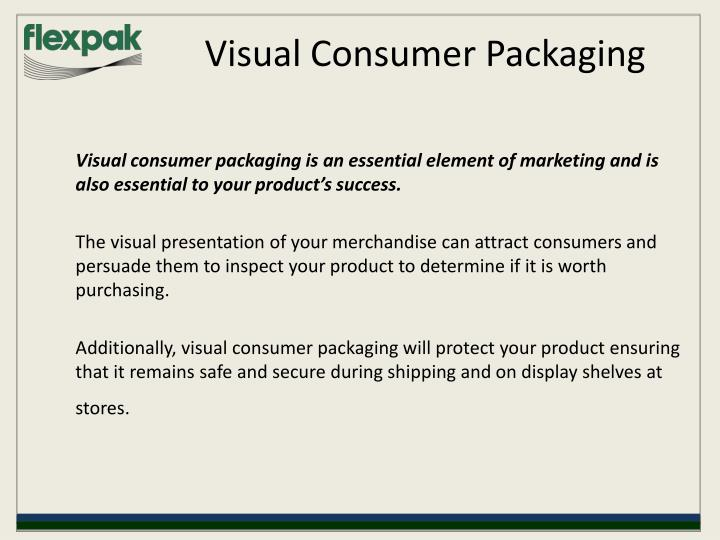 Visual consumer packaging