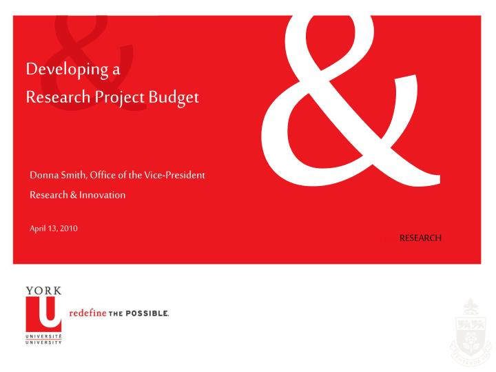 developing a research project budget n.