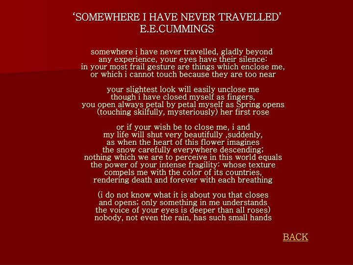 somewhere i have never travelled Directed by tien-yu fu with wasir chou, yung-feng lee, hsin li, yun-yun li.
