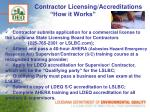 contractor licensing accreditations how it works