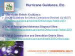 hurricane guidance etc