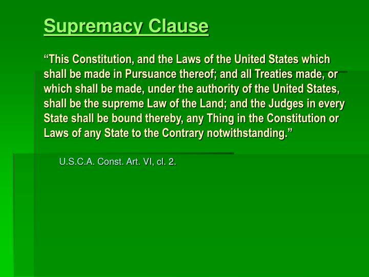 Supremacy Clause