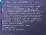 mems based mcao demonstrator