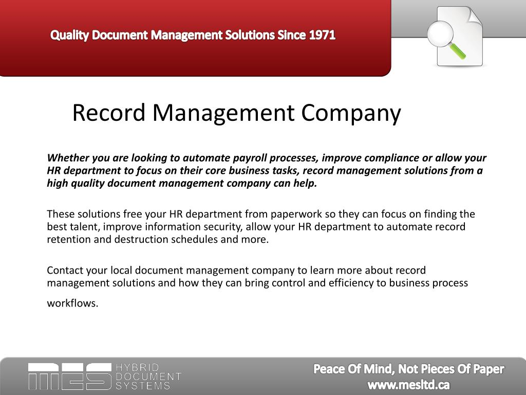 Record Management Company