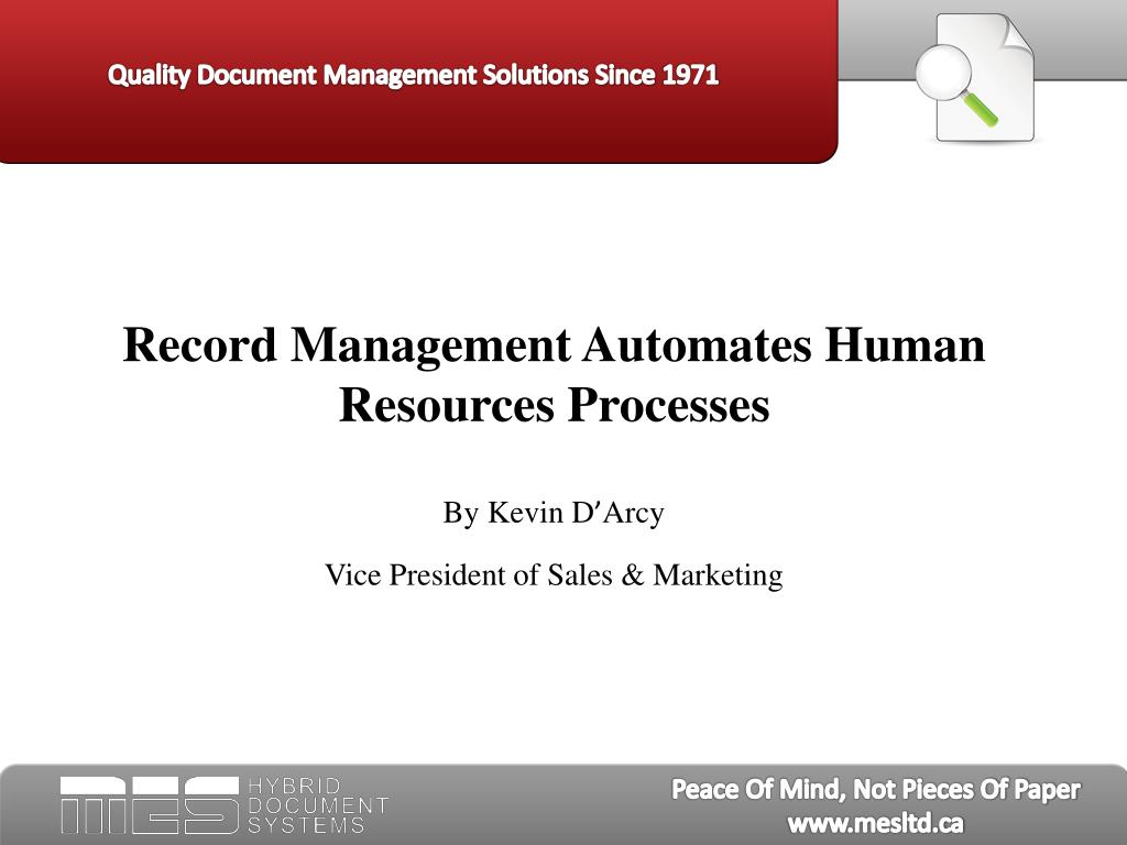 Record Management Automates Human Resources Processes