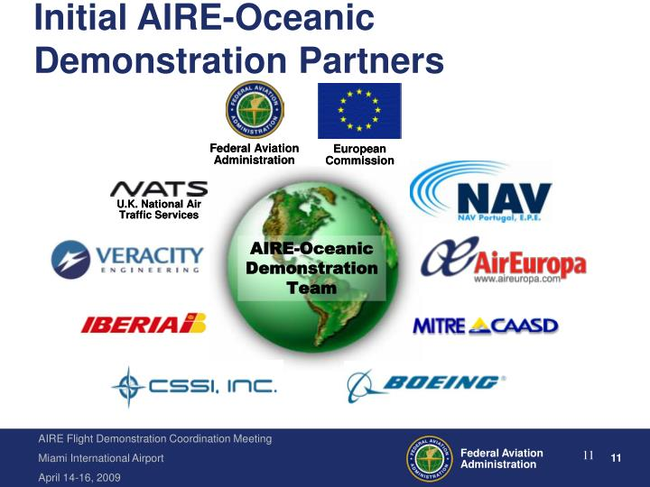 Initial AIRE-Oceanic Demonstration Partners