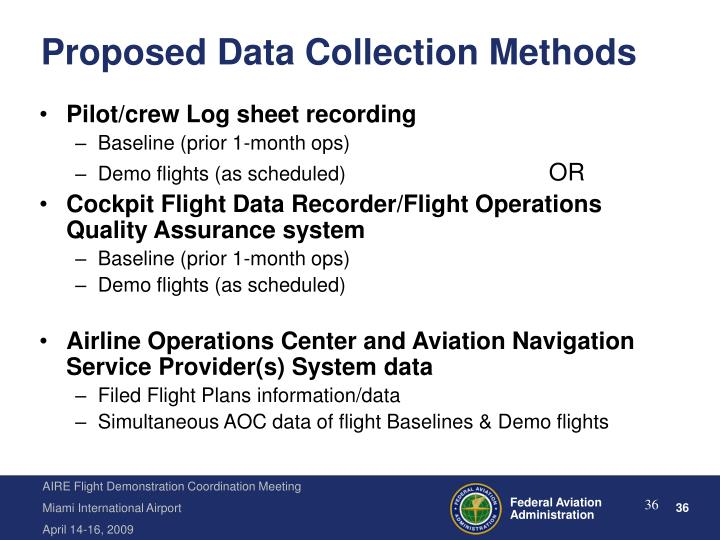 Proposed Data Collection Methods
