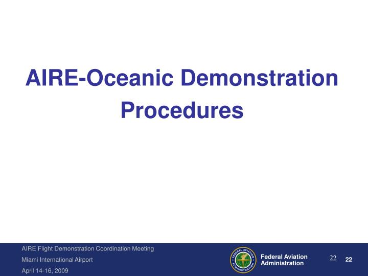 AIRE-Oceanic Demonstration