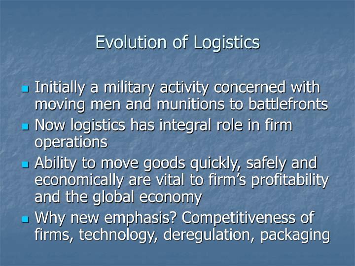 Evolution of Logistics