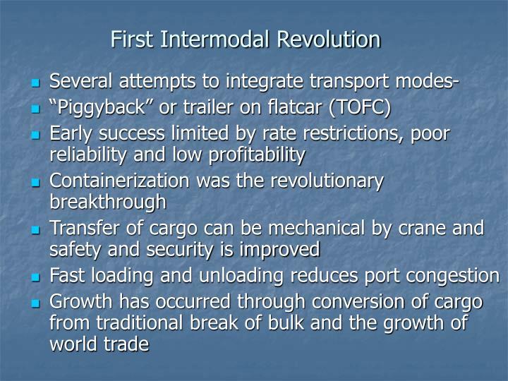 First Intermodal Revolution