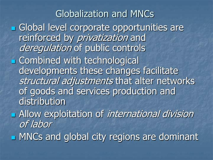 Globalization and mncs