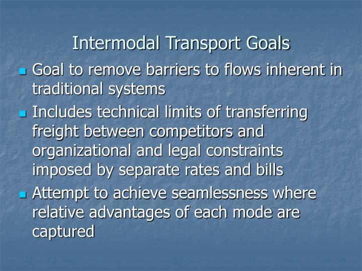 Intermodal Transport Goals