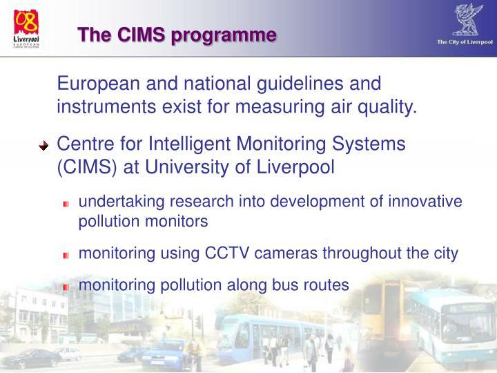 The CIMS programme