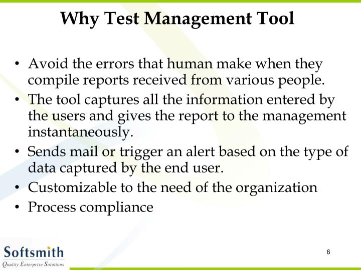 Why Test Management Tool