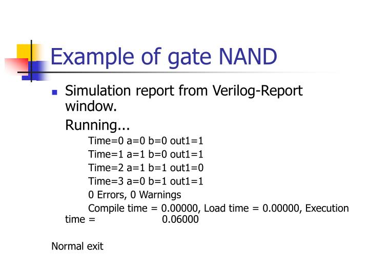 Example of gate NAND