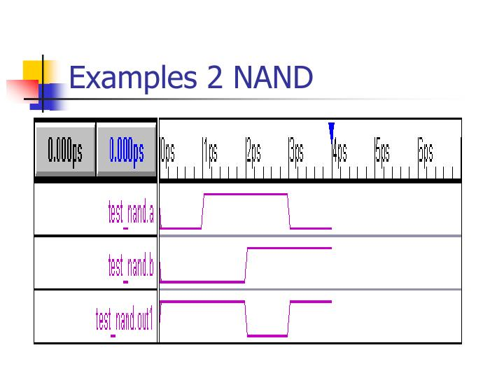 Examples 2 NAND