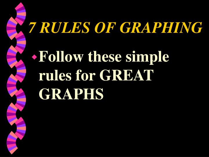 7 RULES OF GRAPHING