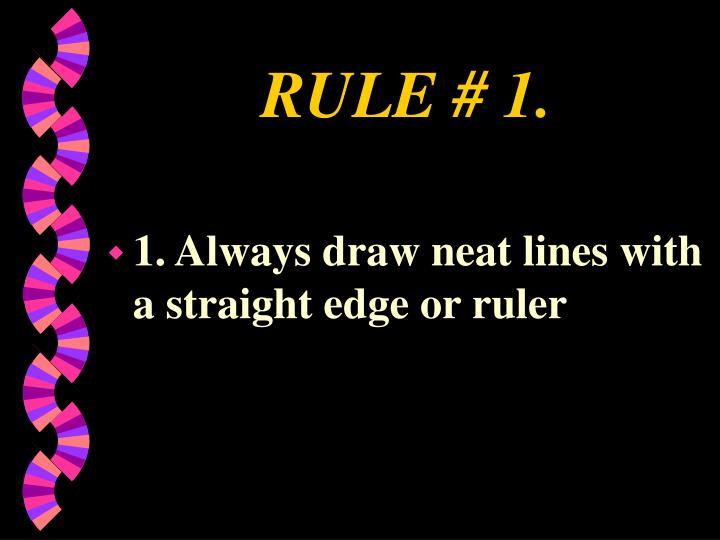 RULE # 1.