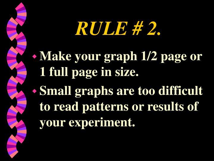 RULE # 2.