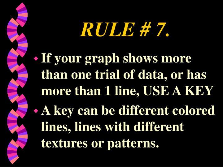 RULE # 7.